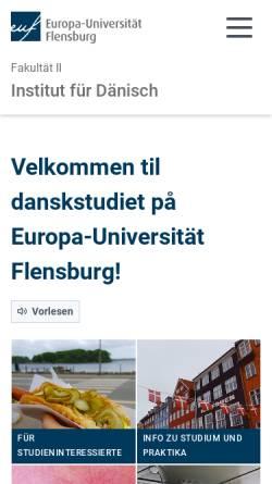 Vorschau der mobilen Webseite www.uni-flensburg.de, Universität Flensburg (Deutschland)