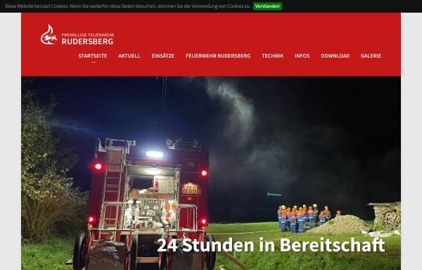 Vorschau von www.feuerwehr-rudersberg.de, Freiwillige Feuerwehr Rudersberg
