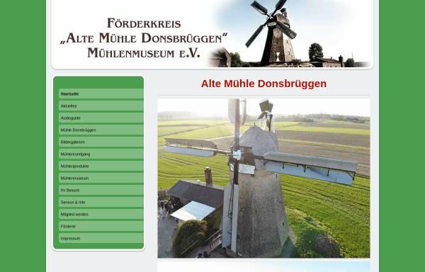 Vorschau von www.muehle-donsbrueggen.de, Alte Mühle Donsbrüggen