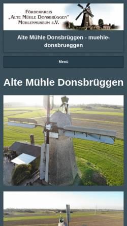 Vorschau der mobilen Webseite www.muehle-donsbrueggen.de, Alte Mühle Donsbrüggen