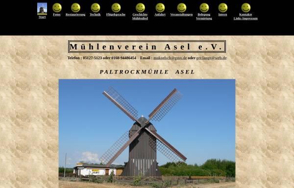 Vorschau von www.muehleasel.de, Mühlenverein Asel e.V.