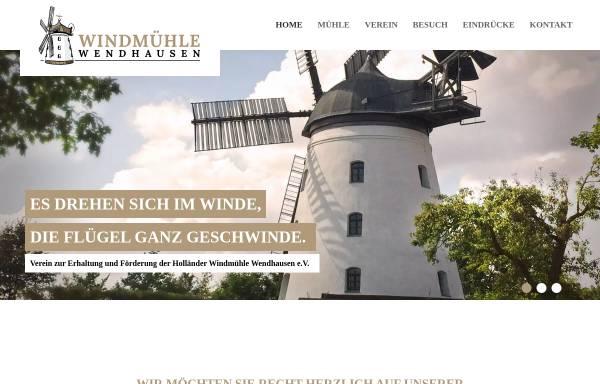 Vorschau von www.windmuehle-wendhausen.de, Windmühle Wendhausen