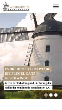 Vorschau der mobilen Webseite www.windmuehle-wendhausen.de, Windmühle Wendhausen