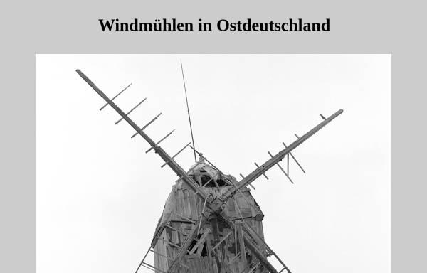 Vorschau von www.muehlen-archiv.de, Windmühlen in Ostdeutschland
