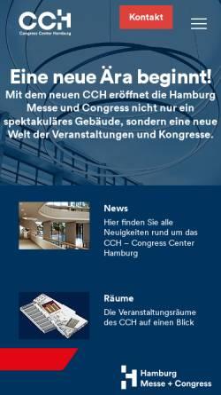 Vorschau der mobilen Webseite www.cch.de, CCH