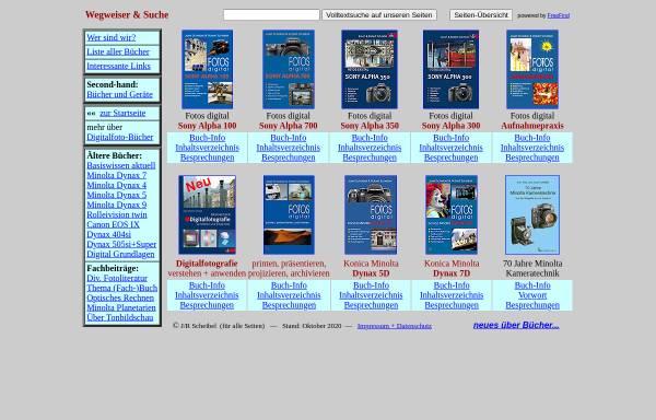Vorschau von www.scheibel.de, Bücher zu Minolta Kameras