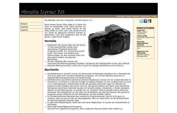 Vorschau von www.matuschek.net, Erfahrungsbericht zur Minolta Dynax 7xi