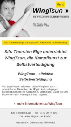 Vorschau der mobilen Webseite www.sifu-elge.de, EWTO-Schule Thorsten Elge