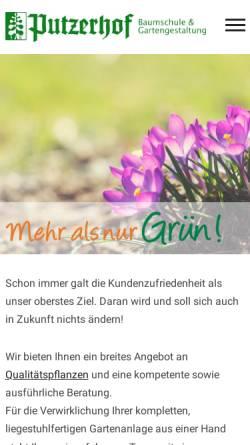 Vorschau der mobilen Webseite www.putzerhof.net, Baumschule Putzerhof