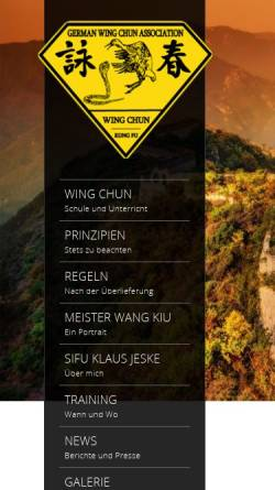 Vorschau der mobilen Webseite www.wingchun-germany.de, German Wing Chun Association e.V.