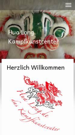 Vorschau der mobilen Webseite hualong.de, Hualong Kampfkunstcenter