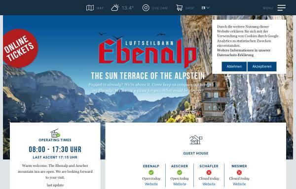 Vorschau von www.ebenalp.ch, Luftseilbahn Wasserauen-Ebenalp