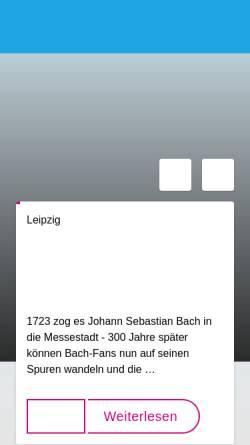 Vorschau der mobilen Webseite www.sachsen-fernsehen.de, LF- Leipzig Fernsehen