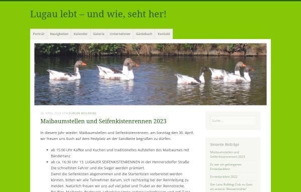 Vorschau von lugau-niederlausitz.de, Lugau lebt e.V.