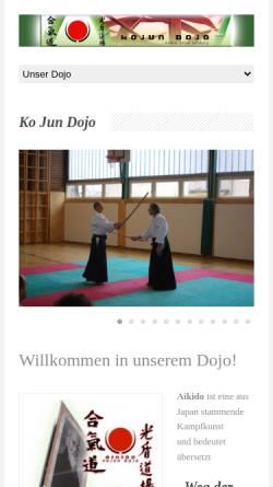 Vorschau der mobilen Webseite www.aikido-salzburg.at, Salzburg - Aikido-Dojo Ko Jun