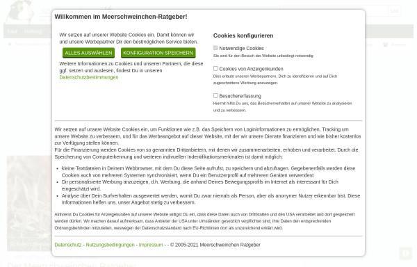 Vorschau von www.meerschweinchen-ratgeber.de, Meerschweinchen Ratgeber