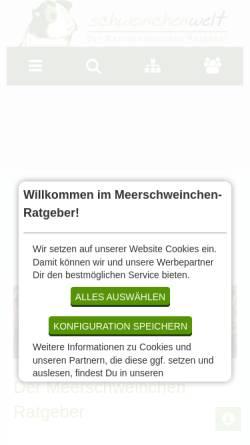 Vorschau der mobilen Webseite www.meerschweinchen-ratgeber.de, Meerschweinchen Ratgeber