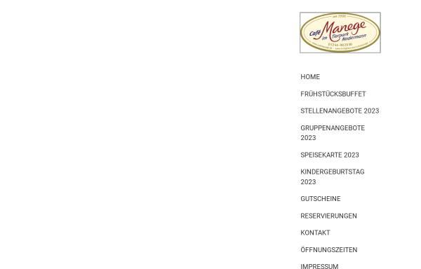 Vorschau von www.cafemanege.de, Café Manege