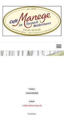 Vorschau der mobilen Webseite www.cafemanege.de, Café Manege