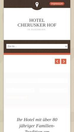 Vorschau der mobilen Webseite www.cherusker-hof.de, Hotel Cherusker Hof Paderborn