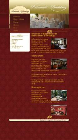 Vorschau der mobilen Webseite www.brinkkrug.de, Restaurant Brinkkrug