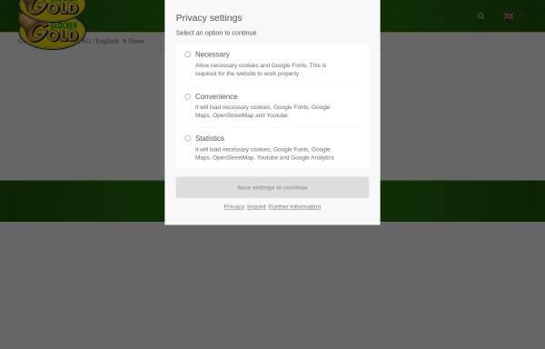 Vorschau von www.glockengold.de, Glockengold Fruchtsaft GmbH