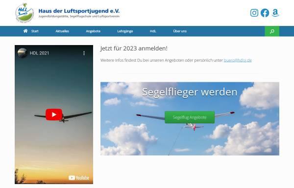 Vorschau von www.hdlsj.de, Haus der Luftsportjugend