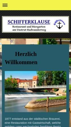 Vorschau der mobilen Webseite www.schifferklause-laucha.de, Schifferklause Laucha