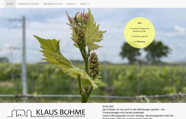 Vorschau von www.weingut-klaus-boehme.de, Weingut Klaus Böhme