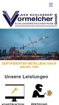Vorschau der mobilen Webseite www.dsvkiel.de, Schlosserei Vormelcher