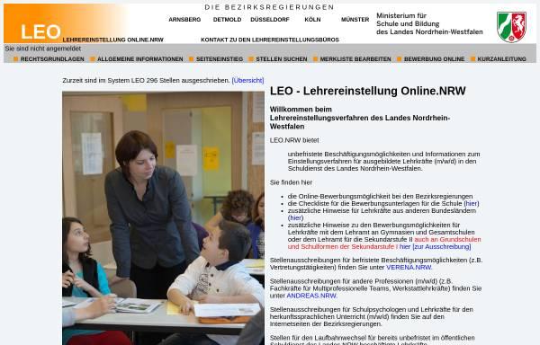 Leo Lehrereinstellung Onlinenrw Schule Und Weiterbildung