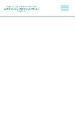 Vorschau der mobilen Webseite www.jbp-nrw.de, Junge Bläserphilharmonie NRW