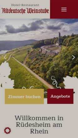 Vorschau der mobilen Webseite www.hotel-altdeutsche-weinstube.de, Hotel Altdeutsche Weinstube