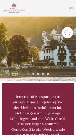 Vorschau der mobilen Webseite www.hotel-krone.com, Hotel Krone in Rüdesheim-Assmannshausen, Rheingau
