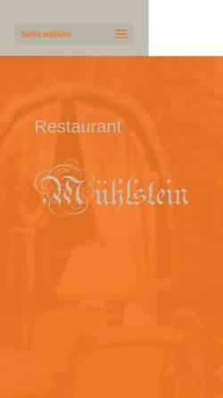 Vorschau der mobilen Webseite www.muehlstein-bensheim.de, Mühlstein