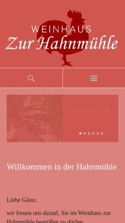 Vorschau der mobilen Webseite www.hahnmuehle.de, Zur Hahnmühle