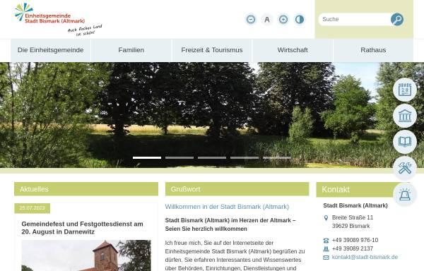 Vorschau von www.stadt-bismark.de, Stadt Bismark