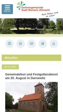 Vorschau der mobilen Webseite www.stadt-bismark.de, Stadt Bismark