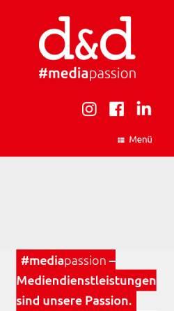 Vorschau der mobilen Webseite www.dd-medien.de, d und d digital data repro GmbH