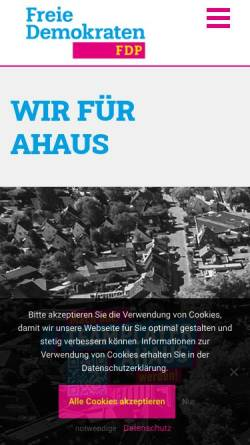 Vorschau der mobilen Webseite www.fdp-ahaus.de, FDP Ahaus