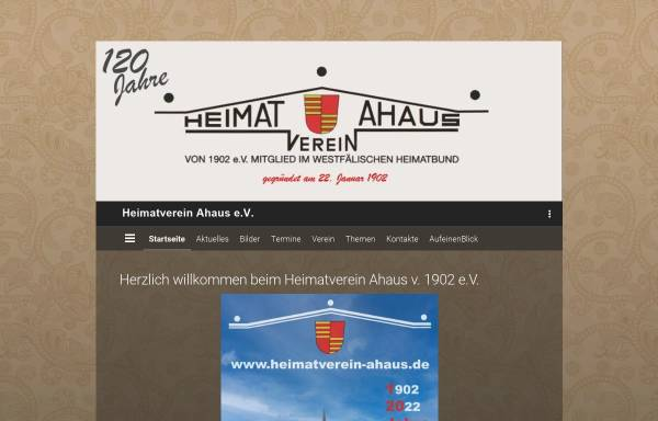 Vorschau von www.heimatverein-ahaus.de, Heimatverein Ahaus von 1902 e.V.