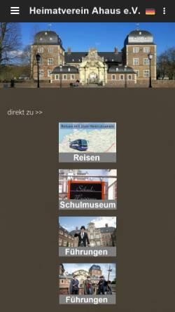 Vorschau der mobilen Webseite www.heimatverein-ahaus.de, Heimatverein Ahaus von 1902 e.V.