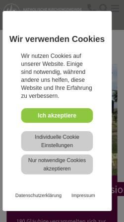 Vorschau der mobilen Webseite www.st-marien-ahaus.de, Pfarrgemeinde St. Mariä Himmelfahrt