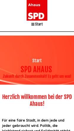 Vorschau der mobilen Webseite www.spd-ahaus.de, SPD-Ortsverein Ahaus