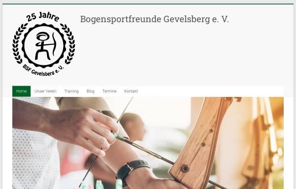Vorschau von www.bogensportfreunde.de, Bogensportfreunde Gevelsberg e.V.