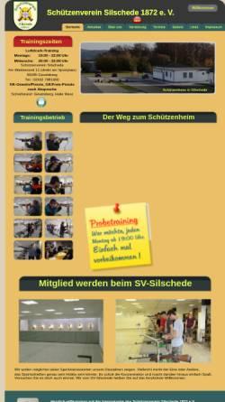 Vorschau der mobilen Webseite www.sv-silschede.de, Schützenverein Silschede 1872 e.V.
