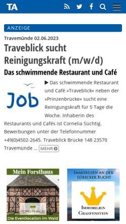 Travemunde Aktuell Nachrichten Und Medien Lubeck Travemuende