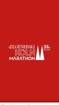 Vorschau der mobilen Webseite www.koeln-marathon.de, Ford Köln Marathon