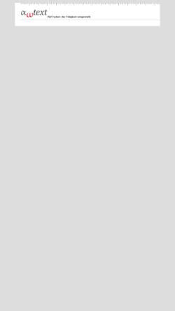 Vorschau der mobilen Webseite www.awtext.de, AW-Text