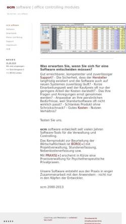 Vorschau der mobilen Webseite www.ocm-software.de, Heinz Reiter - Ocm Software